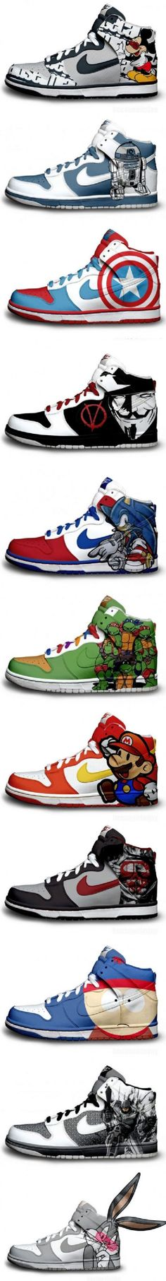 OMG I would probably wear these Redesign your Nikes?  Just do it!