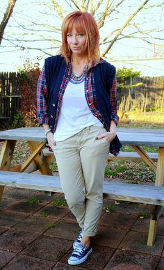 Ham & Eggs And A Readers.com Feature: Boyfriend Vest, Plaid Shirt And Converse - Fashion Fairy Dust