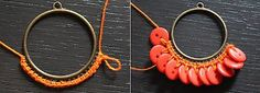 DIY Button Craft: DIY Button earrings