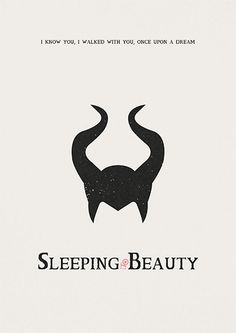 Sleeping Beauty Poster Disney art minimalist print by AbbieImagine