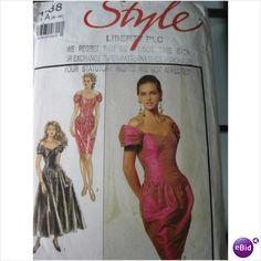 1990's Style pattern - evening dresses