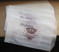 paris crown french market glassine sacks set of 8 by OkioBDesigns, $5.00
