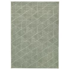 STENLILLE Vloerkleed, laagpolig - groen - IKEA