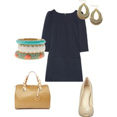 Navy and accents, created by kmullins on Polyvore
