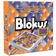 Blokus Duo.  Regular Blokus is best with four, and it's usually just the two of us playing, so....