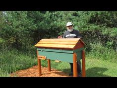 more info on my Horizontal Langstroth Beehive some call them long hive Top Bar Bee Hive, Langstroth Hive, Bee Hive Plans, Raising Bees, Honey Bee Hives, Beekeeping, Beehive, Homesteading, Jars