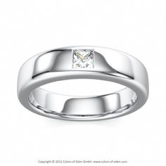 Diamond Platinum Wedding Band Gleam of Light, Colors of Eden #platinum #diamond #ring