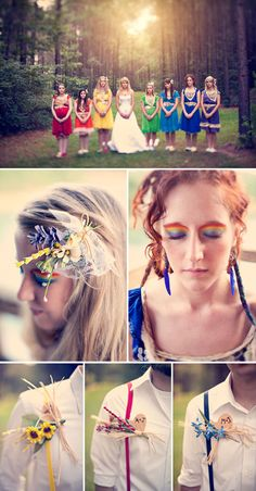 All the colors of the rainbow found via rocknrollbride.com courtesy of http://www.threenailsphotography.com/blog/