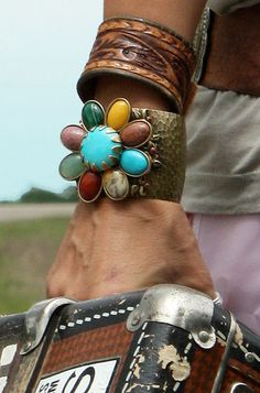 vintage leather western cuff | gypsyville by the junk gypsy co. on We Heart It.
