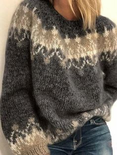 Casual Sweaters, Pullover Sweaters, Sweaters For Women, Fair Isle Sweaters, Cardigans, Oversized Sweaters, Women's Sweaters, Loose Sweater, Long Sleeve Sweater