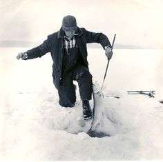 vintage ice fishing picture - Google Search