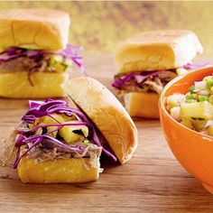 Hawaiian BBQ Pulled Pork Sandwich with Grilled Pineapple Relish