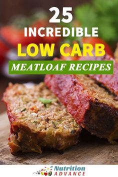 25 Incredible Low Carb Meatloaf Recipes   Meatloaf is a classic dish, but just because you're trying to limit the carbs doesn't mean it's off the menu. Here are 25 incredible low carb meatloaf recipes. These dishes include all sorts of different ingredients and themes - Italian meatloaf? Check! Mexican meatloaf? Check! Three-cheese and chive stuffed meatloaf? Check! There's a meatloaf for all tastes, and they are all healthy, gluten-free, sugar-free, and suitable for low carb and keto diets…