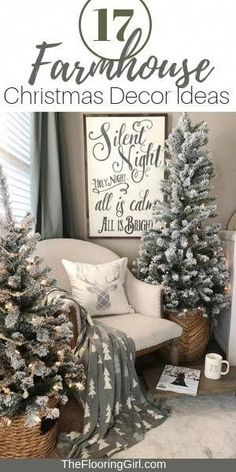 17 Farmhouse Christmas Decor Ideas #farmhouse #christmas #homedecor #farmhousestyle #rustic #shabbychic #christmasideas #christmasdecorations