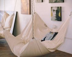 Le Beanock is a UK designed and built bean bag hammock chair that will eventually find its way into our own personal homes. Bean Bag Hammock, My New Room, My Room, Diy Wanddekorationen, Casa Kids, Woman Cave, Home And Deco, Dream Decor, Outdoor Rooms