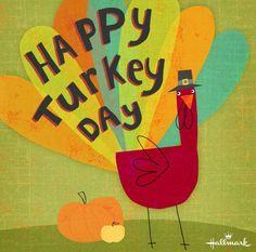 Happy Turkey Day, Hallmark Cards, Thanksgiving, Holiday, Painting, Decor, Autumn, Art, Decoration
