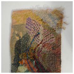 Art Felt, Merino, fabrics; Wet felted, hand stitched.  <3