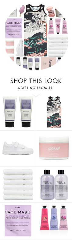 """""""// 175 //"""" by rachthecookie ❤ liked on Polyvore featuring Deep Steep, Carven, Jil Sander, Aerie, Linum Home Textiles, Prada, philosophy, H&M, Crabtree & Evelyn and Yukiko"""