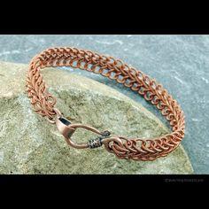 Soutache Braid Coiled Copper Wire Bracelet  by ShaktipajDesigns, $10.00