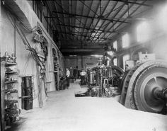 Interior of Childs power plant Fossil Creek, Photo Exhibit, Hydroelectric Power, Water Powers, State Of Arizona, Electric Company, Paper Companies, Mechanical Engineering, History