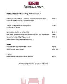 Unsere Speisekarte für diese Woche 13.03.18 - 09.03.18  Natürlich nur solange der Vorrat reicht