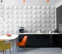 объемные панели на кухне