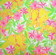 Lilly Pulitzer Elephant Pattern | How can you not love orange elephants?
