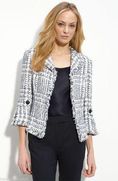 Lafayette 148 Corina Multicolor Tweed Jacket Size 4  #Lafayette148NewYork #BasicJacket