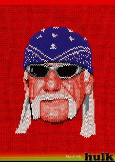 Hulk Hogan by Formallina's (knitted heroes)