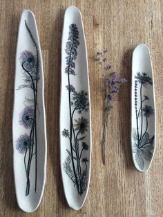 K Boyland Designs, botanical impressions in clay
