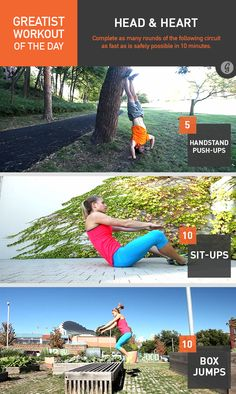 Greatist Workout of the Day: Head & Heart #fitness #bodyweight #workout