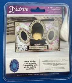 New Diesire Classiques 3 Metal Dies Parisian Mirror Ovals Crafters Companion #CraftersCompanion Crafters Companion, Selling On Ebay, My Ebay, Parisian, Craft Projects, How To Apply, The Unit, Mirror, Crafts