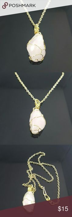SOLD in a bundle to Julie @juliebayman ROSE QUARTZ RESERVED  ROSE QUARTZ: Opens the heart chakra to all forms of love, reduces stress and dispels negativity.   Handmade beautiful Rose Quartz silvewire wrapping design by us, DGwiring . We can make more upon request. We can make them with silver, copper or gold wire.  Chain 18 inches Pendant 1.5 inches. Comes in a jewlery gift box. Perfect for gifts!  Visit us at www.DGwiring.com for free shipping  Thank you for supporting our handmade small…