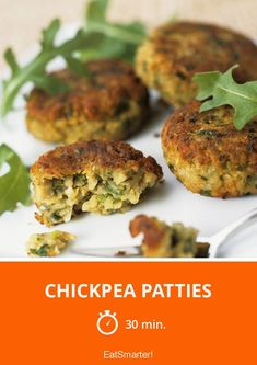 The Chickpea Patties recipe out of our category Legume! EatSmarter has over healthy & delicious recipes online. Vegetarian Meatloaf, Vegetarian Recipes, Greek Appetizers, Appetizer Recipes, Edamame, Chickpea Patties, Legumes Recipe, Greek Cooking, Cooking Ingredients