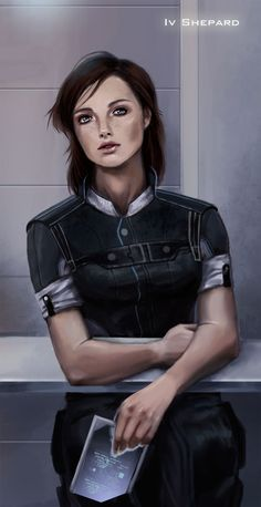This is pretty, and an accurate portrayal. This keep her human, and not some supermodel specter.  (Shepard by DemiSir.deviantart.com on @deviantART)