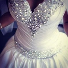 Bling wedding gown