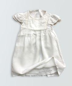 Little Blessings Short Sleeve Christening Gown