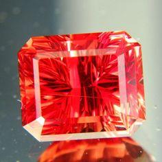 Deep poppy red Oregon sunstone