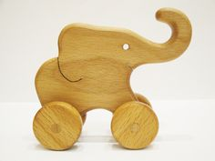 Wooden Elephant Push toy Learning toy Montessori Wood Toy Animals on wheels wood toys for toddlers Gift Wheeled toys Birthday gift by WoodenCaterpillar on Etsy