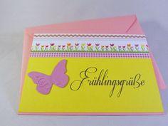 Grußkarte Frühlingsgrüße von Frollein KarLa auf DaWanda.com