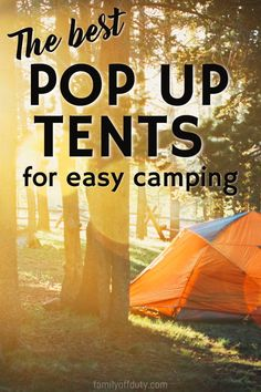 The best pop up tents for easy camping. Pop up tents pop up tents camping pop up tents for kids Pop up tents & trailers camping hacks camping camping ideas Camping and Hiking Gear Camping Guides and IdeasCamping with Kids Travel Camping Guide, Camping Essentials, Camping And Hiking, Camping With Kids, Family Camping, Camping Hacks, Travel With Kids, Camping Ideas, Hiking Gear