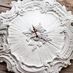 Make a unique clock with a ceiling medallion.