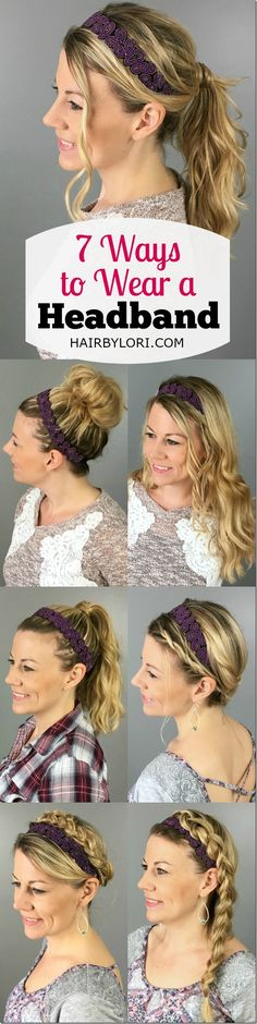 7 Ways to wear a headband - love this! Cute Headband Hairstyles 3cc3b3a21a5d