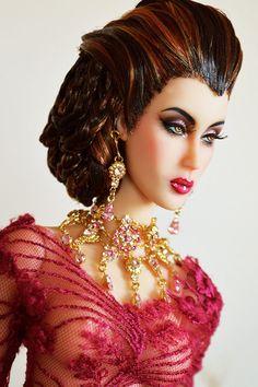 "OOAK Emperis Doll Hydrangea 16"" Ball Jointed Resin Fashion Doll"