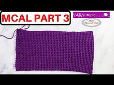 (609) How to Crochet a Thermal Stitch Rectangle - Part 3 of the Mystery Crochet Along - YouTube
