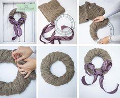 Riutilizzare i maglioni di lana - Ghirlanda decorativa