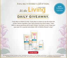 Burt's Bees: 31 Day Giveaway from MarthaStewart - #giveaway