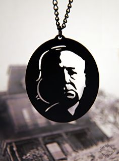 Alfred Hitchcock silhouette necklace