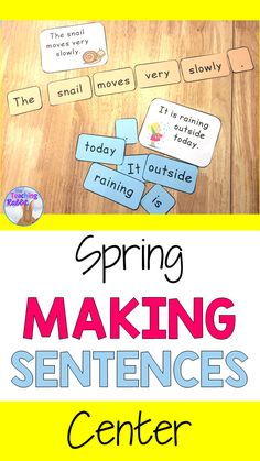 Kindergarten and first grade students arrange words to make simple Spring sentences. They can use the answer card to assist them or leave it out (depending on their level). They can print the sentences they have made in their notebooks. It comes with 15 sentences.  Great for small group work!
