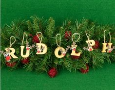 Kit to Make Hanging Rosey Nosey Rudolph Letter Baubles - Christmas Crafts Reindeer Craft, Red Nosed Reindeer, Christmas Baubles, Christmas Decorations, Holiday Decor, Paper Mache Letters, Christmas Crafts For Adults, Rudolph The Red, Make Your Own